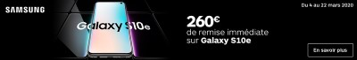 Promo Boulanger Galaxy S10