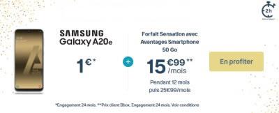 Samsung Galaxy A20e Bouygues Sensation