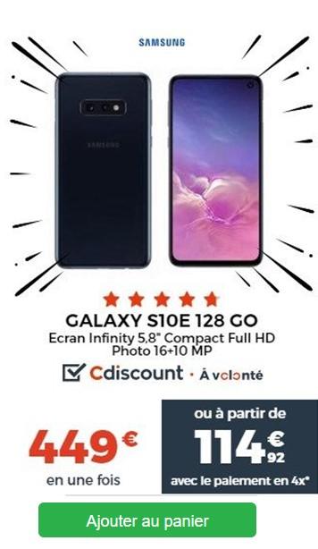 Samsung S10e Cdiscount Black Friday