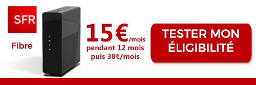 Box Internet SFR en promo à 15€ par mois