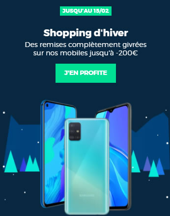 Shopping d'hiver RED by SFR promos smartphones