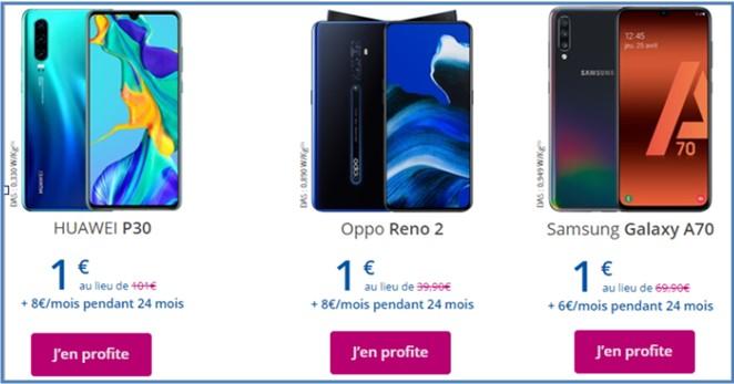 3 smartphone Bouygues soldés