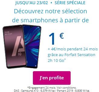 Promos Smartphones 1 euro Bouygues Telecom