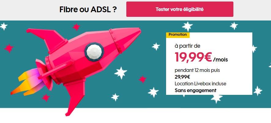 La Boîte Sosh en promo à 19,99€ par mois