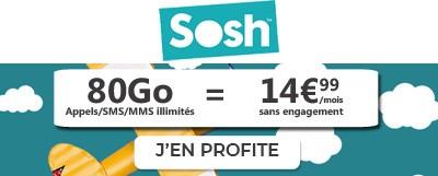 Forfait SOSH 80Go