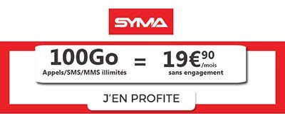 Forfait Syma Mobile 100Go