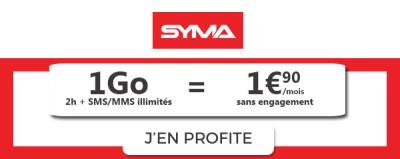 Syma Mobile forfait 1.90€