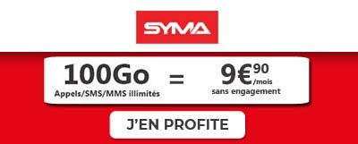forfait 100go syma à 9,90 euros exclu edcom