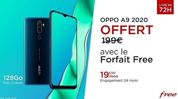 forfait free et oppo A9