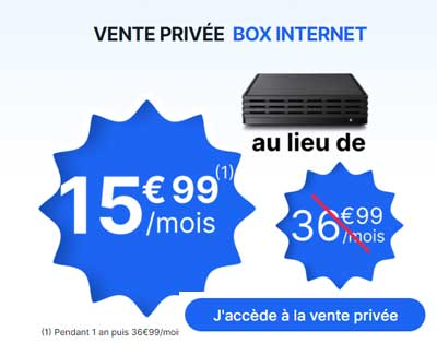 Vente privée Box Internet BeMove et Edcom