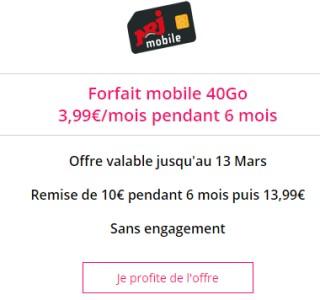 Vente privée 40Go NRJ Mobile