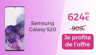 ventes privées chez rakuten : samsung galaxy s20 en promo