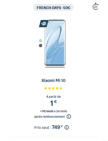 Xiaomi Mi 10 en promo