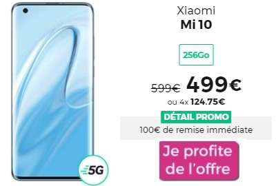 Xiaomi Mi 10 à moins de 500€ chez RED