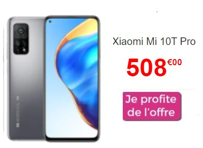 Xiaomi Mi 10T pro promo Cdiscount