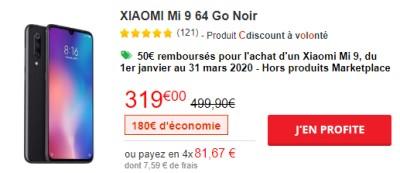 Xiaomi Mi9 Cdiscount